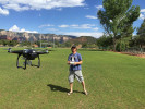 flying my cool drone at the Posse Grounds