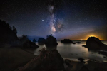 The Milky Way & Moonset at Secret Beach