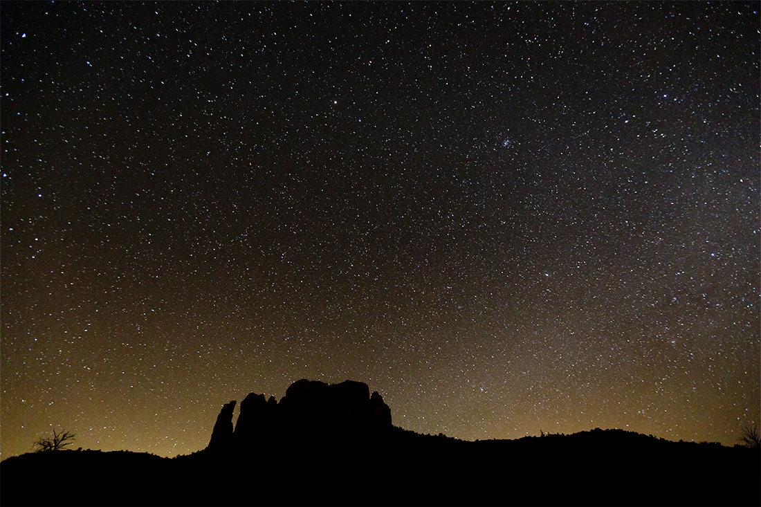 Stars above Cathedral Rocks