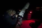 At my buddy Brians house using his telescope