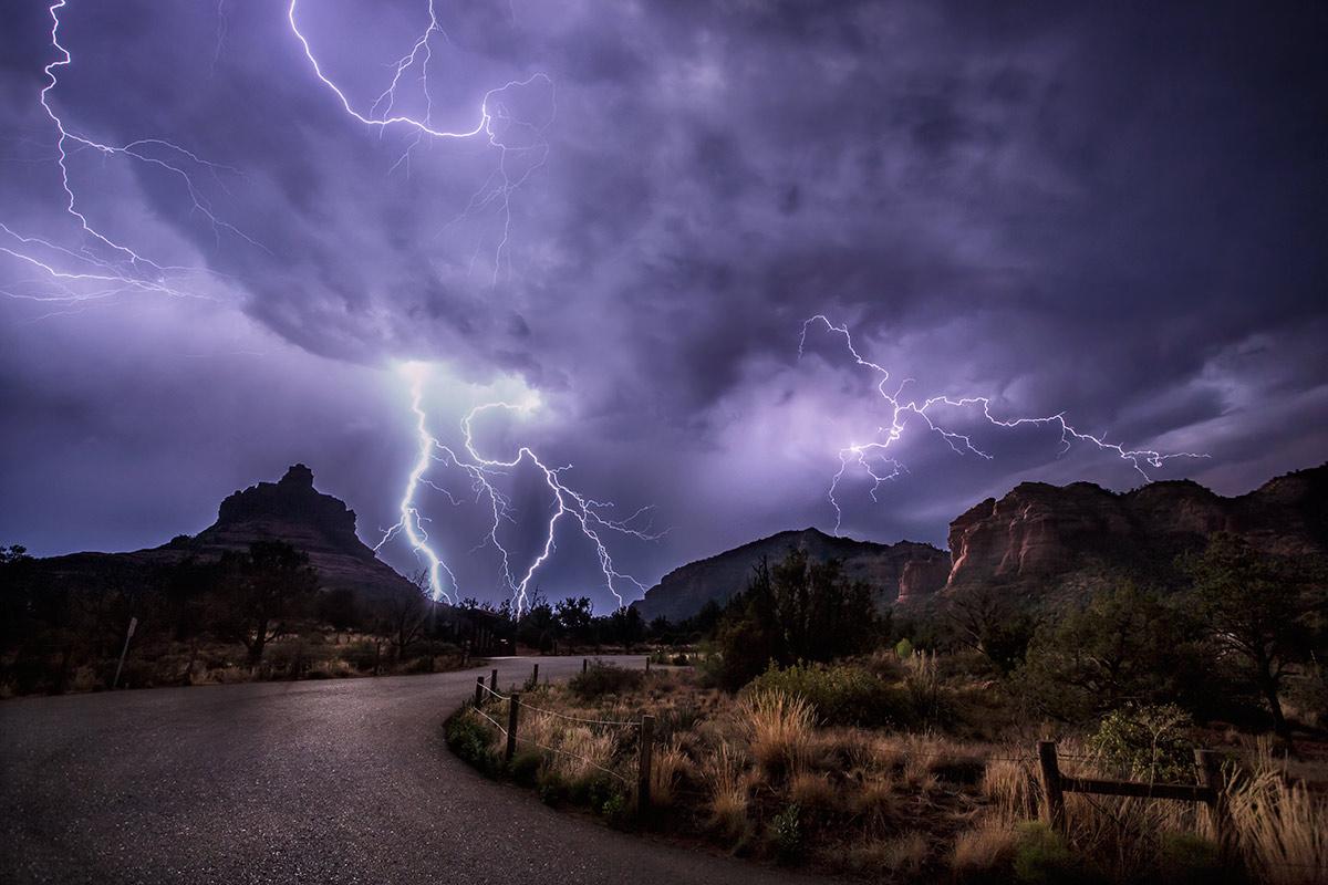 Lightning During The Monsoon Season In Sedona The Natural