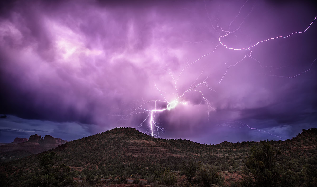 Wild bolts by Cathedral Rocks