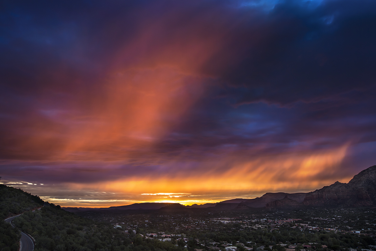 Red sunset over Sedona