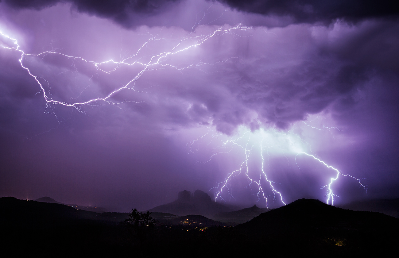 Incredible bolts above Cathedral Rocks