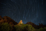 Star trails above the Chapel
