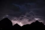 Thunder Mountain with lightning