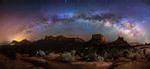 Milky Way panorama over amazing Sedona
