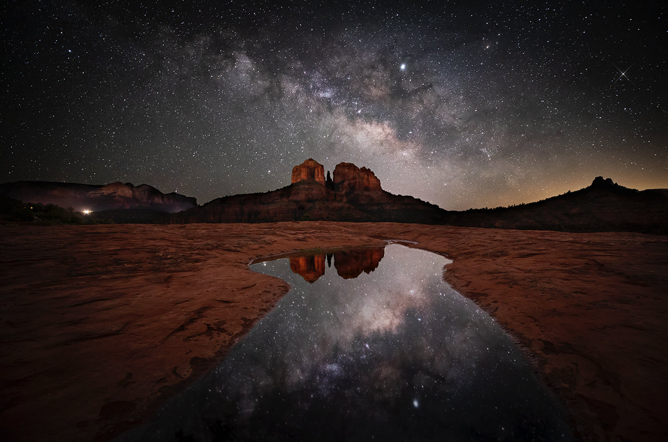Milky Way over Secret Slick Rock in Sedona