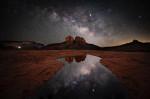 Milky Way over Secret Slick Rock in Sedona