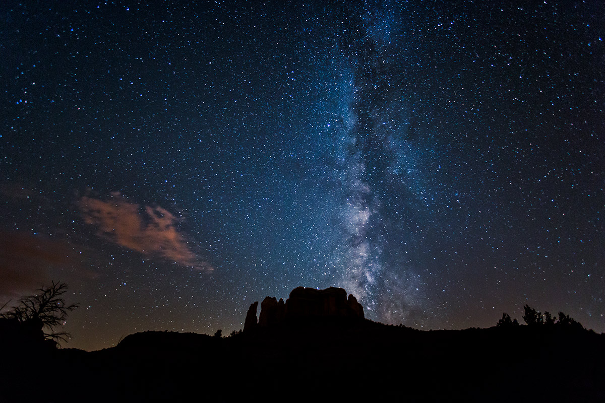 Milky Way over Cathedral Rocks