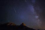 Perseid meteor shower over Sedona, August 2013