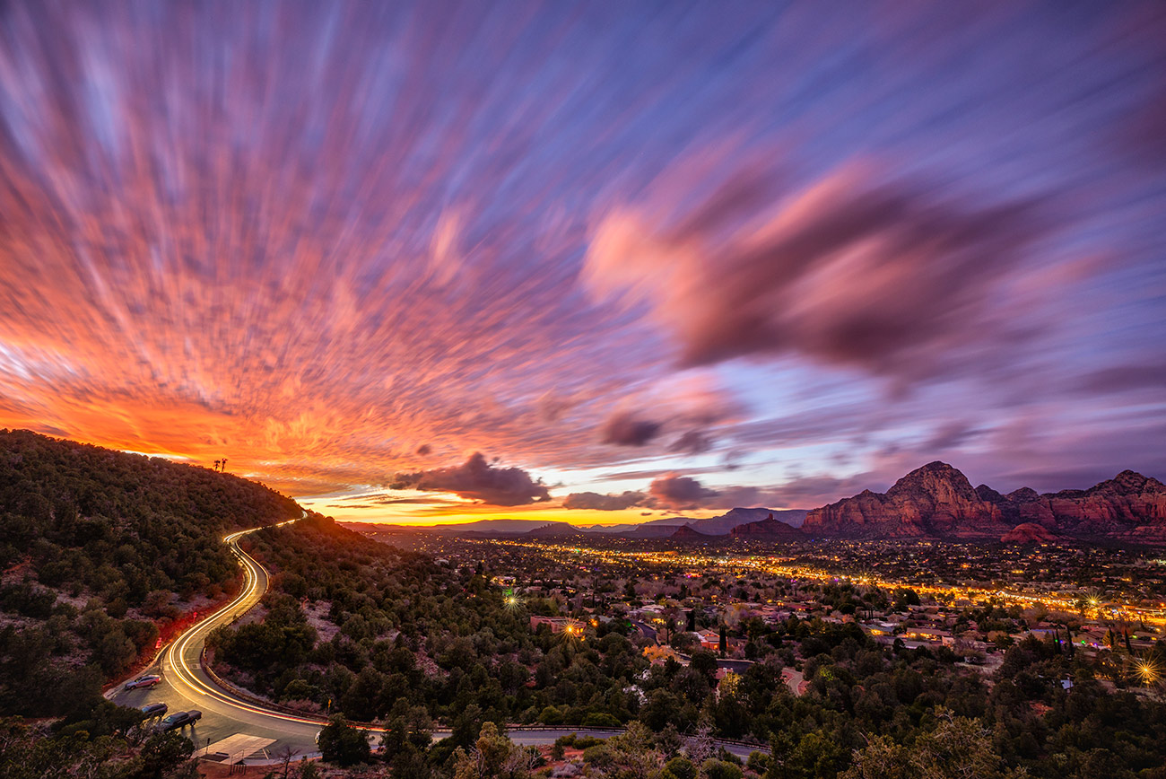 Pink sunset in Sedona, Arizona