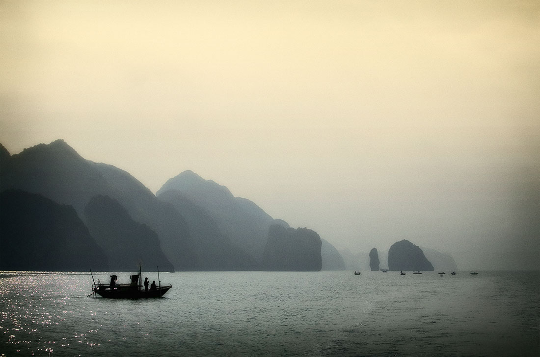 sunrise on Halong Bay,  Vietnam