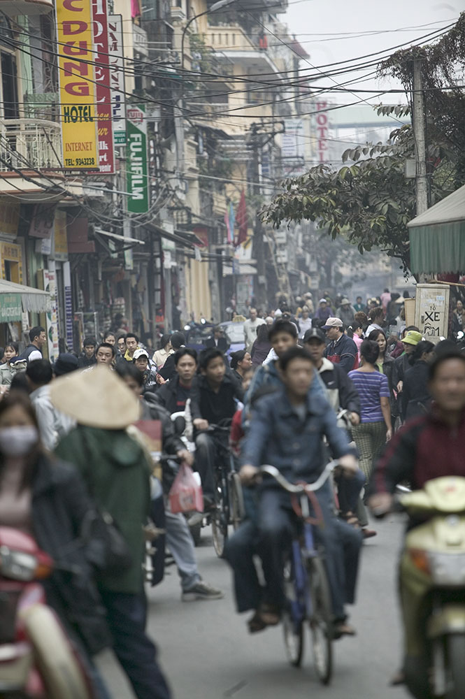 the streets of Hanoi, North Vietnam