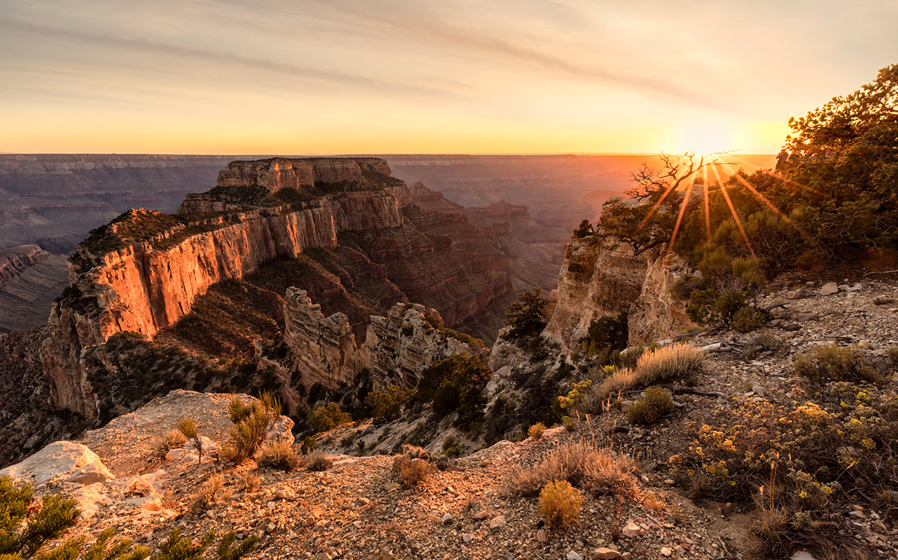 Sunset at the North Rim of the Grand Canyon