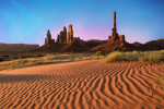 Totem Pole at sunrise in Monument Valley