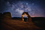 Milky Way over Delicate Arch in Arches NP