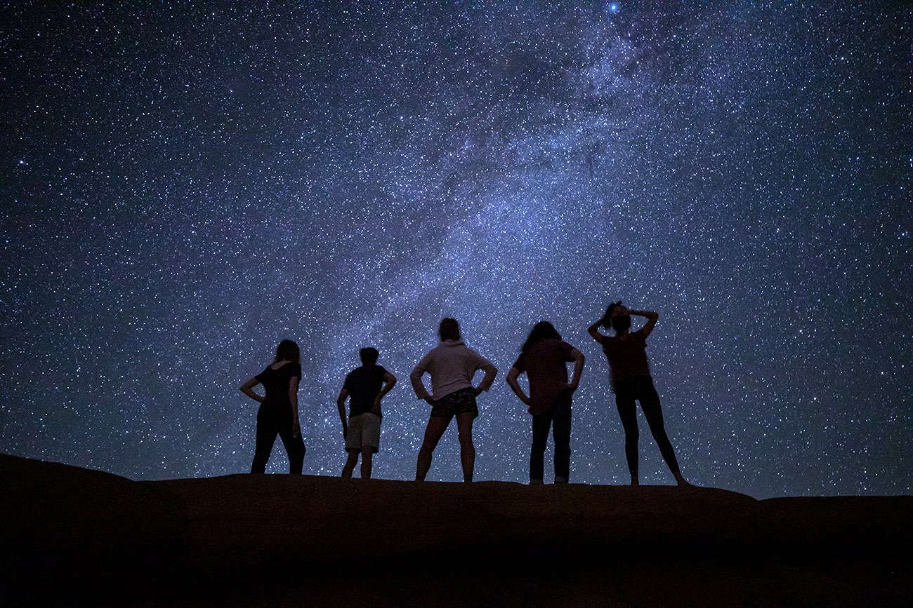 Under the stars at Arches National Park
