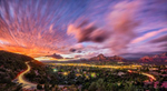 Sunset panorama of beautiful Sedona, Arizona