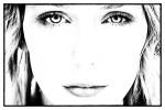 sydney_face_black_white