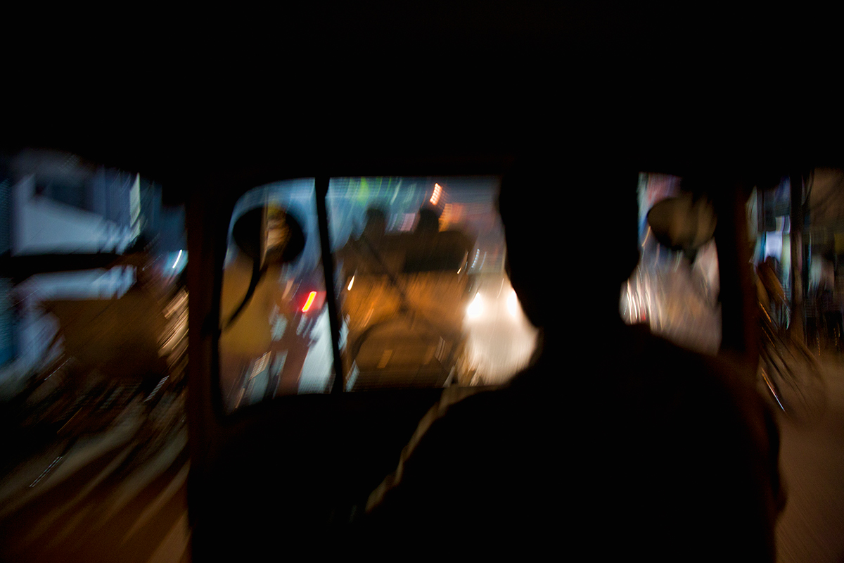 View from the backseat,  Varinasi, India