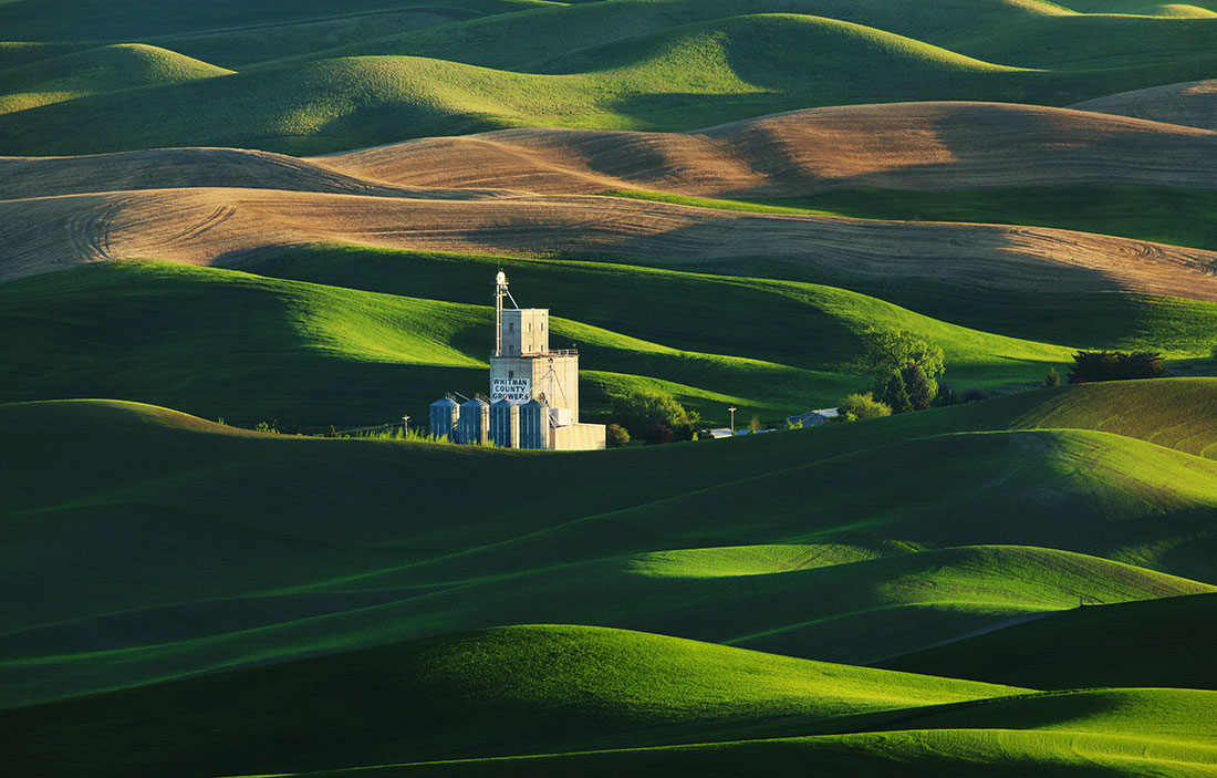 If you have never heard of the breathtaking Palouse region of Eastern Washington, it might be because it is one of the best kept secrets. If you have imagined driving through the gorgeous countryside of Tuscany in Italy, this is almost the next best thing. Home to the second largest wheat fields in the world, next to Russia, the Palouse region is filled with the most gorgeous shades of green, yellow and even red rolling hills in every direction. These fields are a photographers paradise and we will be shooting them from every angle possible during June, the most colorful month of the year. Farm houses, grain elevators, old weathered barns, bridges, tractors and classic scenes of rural America are scattered all around the countryside. The patterns from these wheat fields are addicting and the cloud formations at this time of year in the Palouse can be dazzling in photos. Summer is the best time to capture this one of a kind landscape as the lush green fields are stunning! We will also visit an incredible waterfall at Palouse Falls State Park that photographs beautifully!We will have instruction and critiques in the meeting room at the hotel and go over everything from camera techniques to the digital workflow. Many aspects of Photoshop will be covered that will help push your images to different levels including mastering layer masks and exploring the best Photoshop plugins. Photoshop is a photographers best friend and we will see how it can help almost any image.IN THIS WORKSHOP  –  WE WILL COVER: • How to create more dynamic images• How to scout out the best light & compositions• Finding great locations for your images• How to shoot panoramas  & HDR• Photoshop techniques including HDR , panoramas &  converting to black & white• How to master your camera gear• Critiques of your imagesPlease click on this link  to read more about the Palouse workshop for 2013 workshop on my blog, which also has more photos and more info on the workshop.** As of April  - workshop full! email me to put on the wait list.   I am planning another workshop to the Palouse for June of 2014, so please email me if you might like to sign up for that one.**