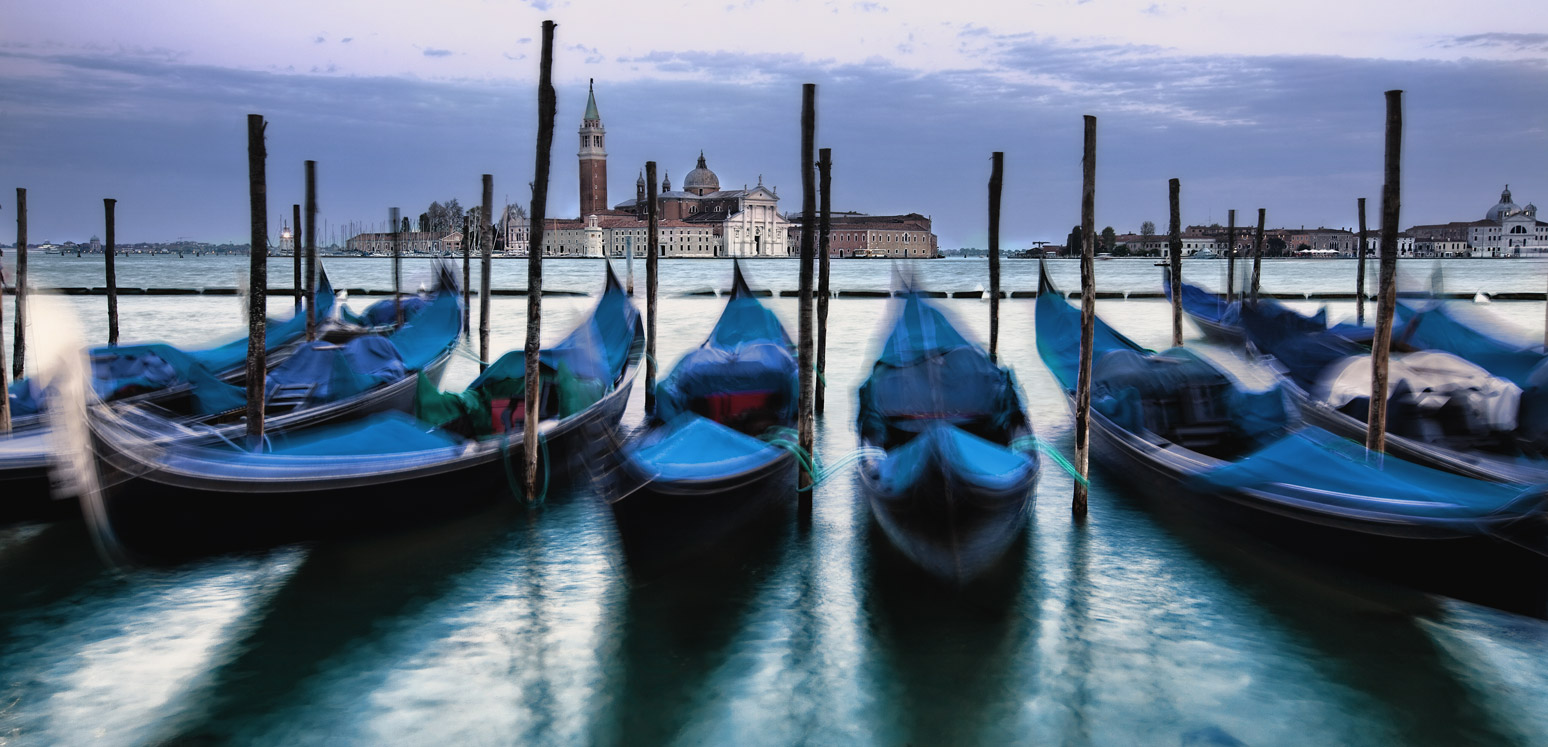 Gondolas by Saint Marks Square in Venice