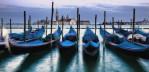 Gondolas by Saint Marks Square in Venice