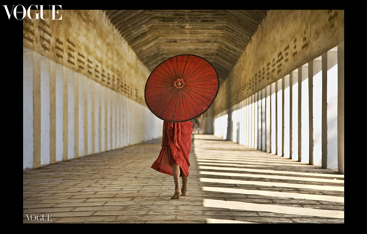my monk with parasol