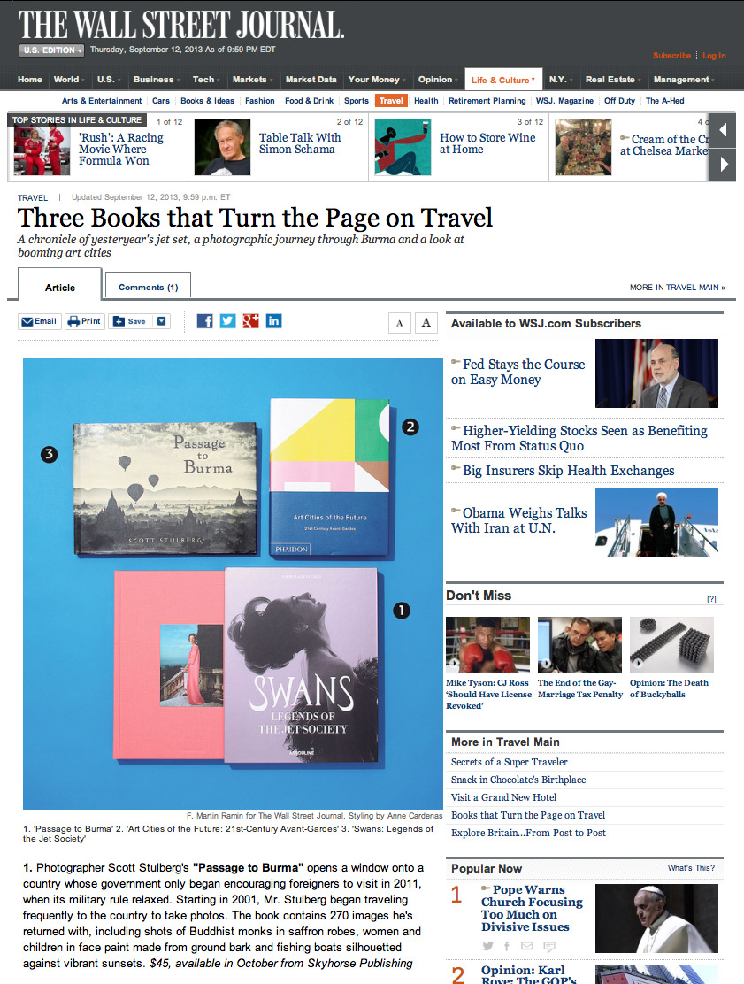 The Wall Street Journal announces my book