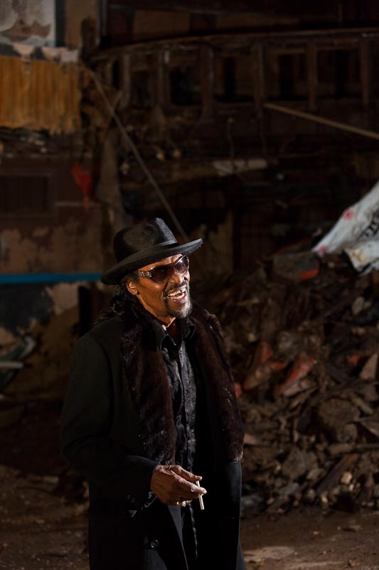 Chuck Brown in the ruins of the (soon to be renovated) Howard Theatre
