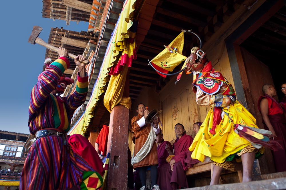 Annual festival (tshechu) at Wangdiphodrang