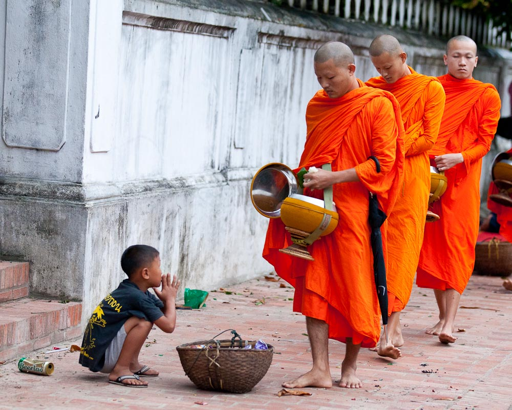 morning offering to monks