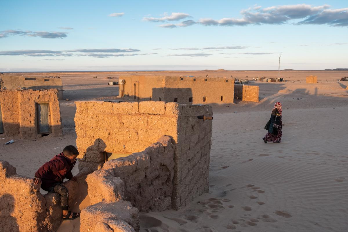 Tindouf's Saharawi refugee camps. Auserd
