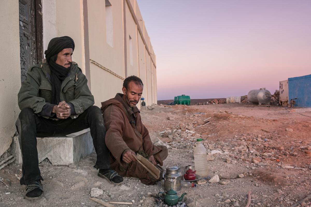Tifariti. RASD, Saharawi administrated territories of Western Sahara. The Saharawi troups barracks.