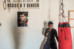 Tindouf's Saharawi refugee camps. Boxing school in Smara