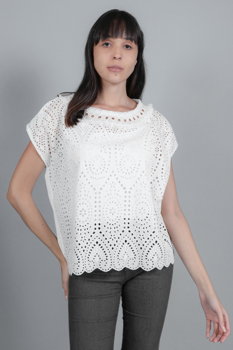 CA 36633 KARISE TOP WITH CAMY WHITE
