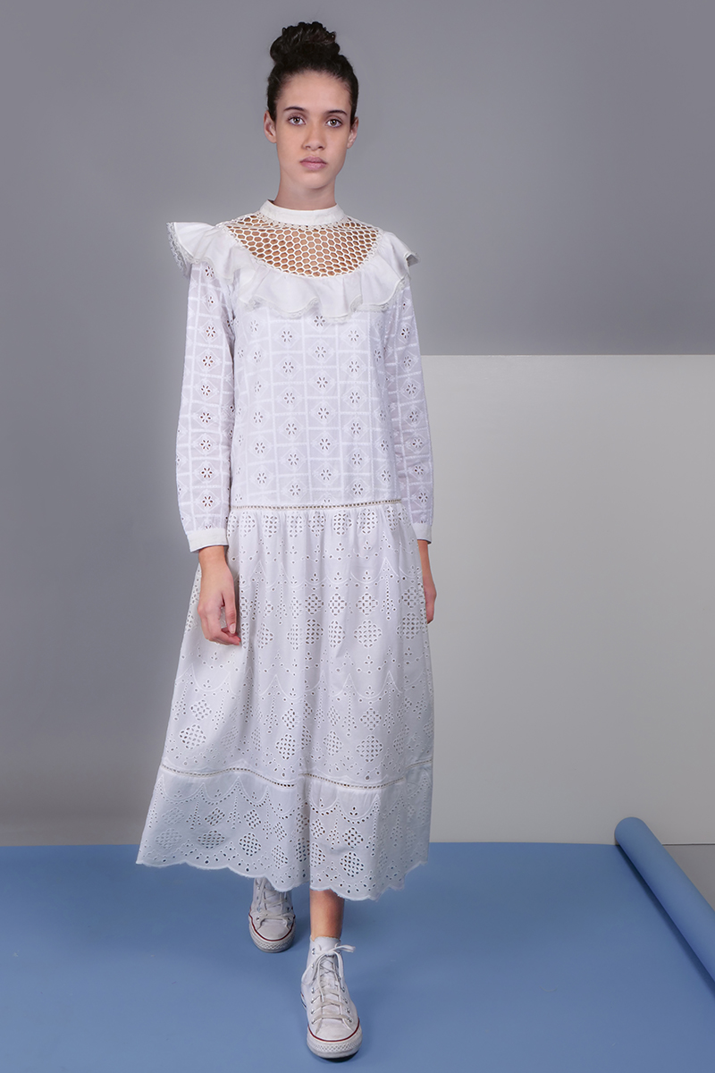 CA 400743 MOREENA DRESS WITH CAMY  WHITE