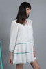 CA 400832 CORIANNA DRESS WITH CAMY WHITE