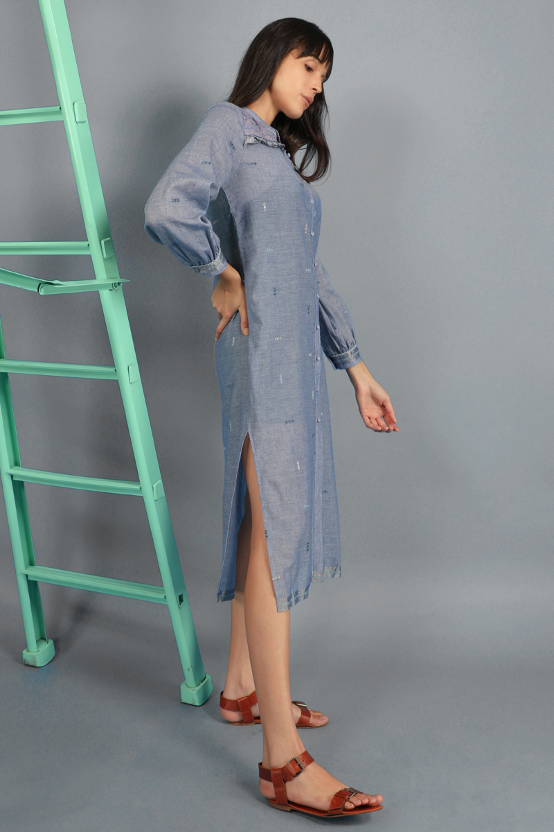 CA 400913 MARIA SHIRT WITH CAMY IRIS BLUE
