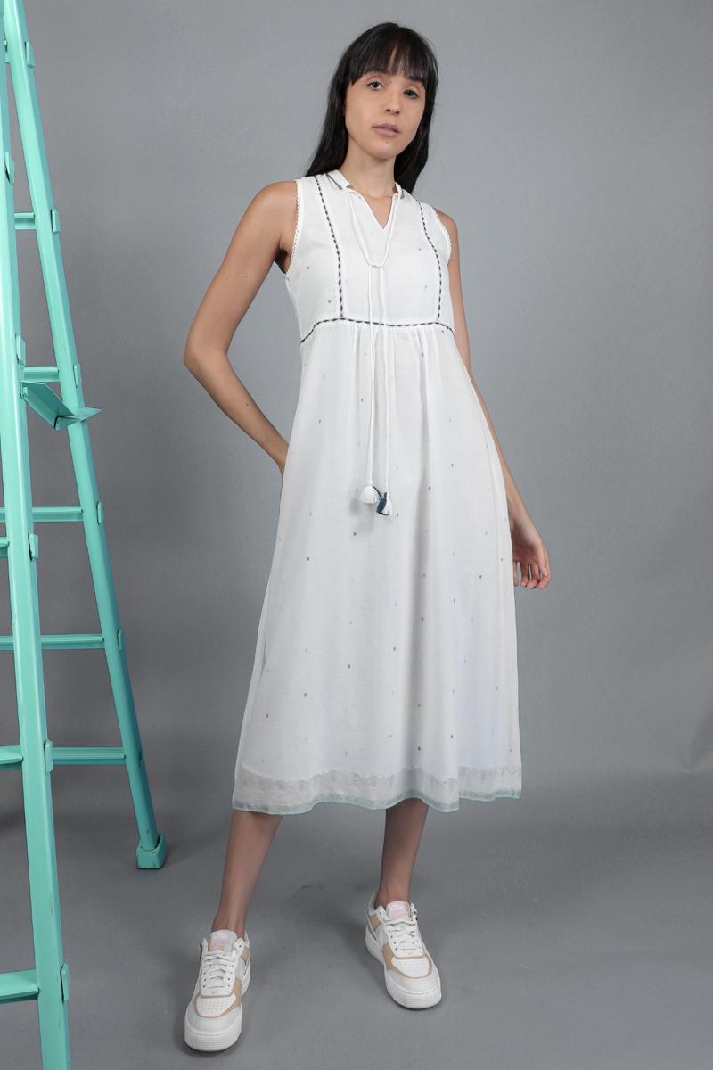 CA 400938 MARYNA DRESS WHITE