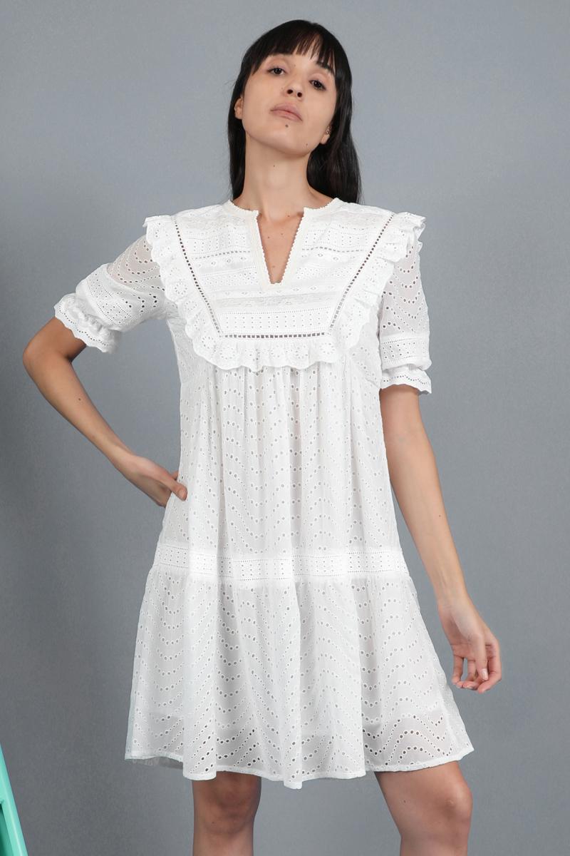 CA 400951 ORANE DRESS WHITE