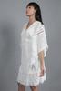 CA 400960 NOEMI KAFTAN WHITE_ CA 91825 KRISTINA SKIRT WHITE