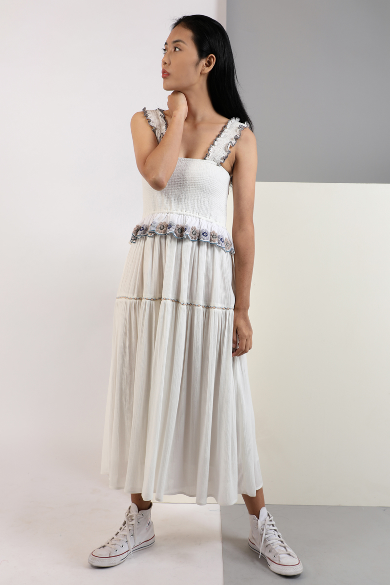 CA 400970 SAONA DRESS WHITE