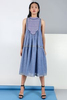 CA 400978 VARLEEN DRESS IRIS BLUE