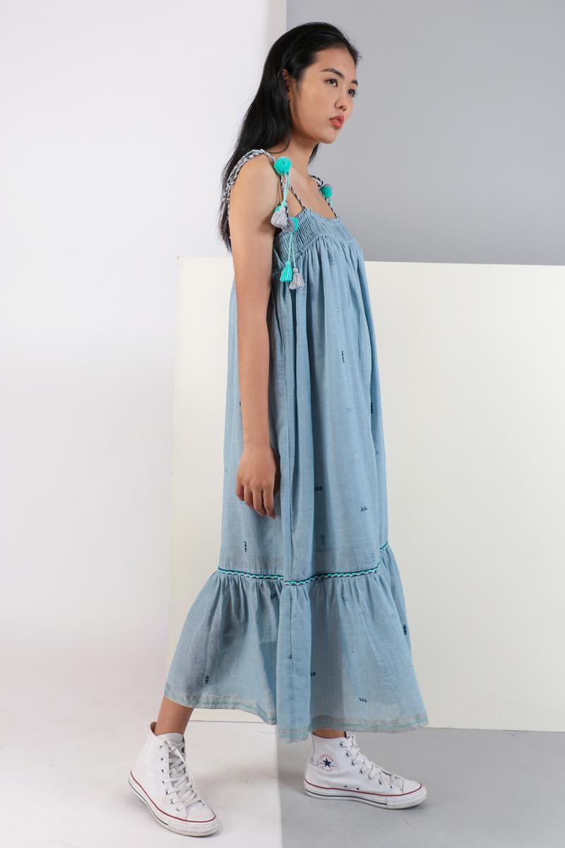 CA 400989 ELIZA DRESS LIGHT BLUE