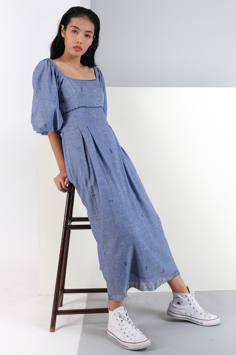 CA 400993 SABREENA DRESS IRIS BLUE