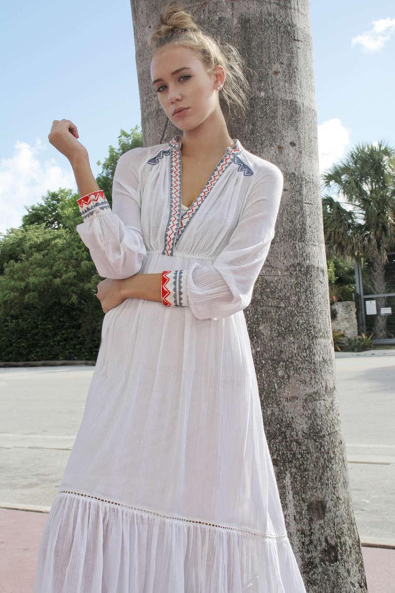 CA 47182 A VERY NAUGHTY GIRL DRESS WHITE