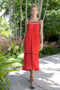 CA 47217 EVERYTHING HAPPENS FOR A REASON DRESS RED