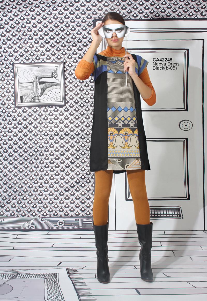 CA42245Naeva DressBlack(b-05)